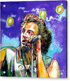 Bruce Springsteen Acrylic Print by Stan Esson