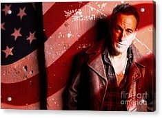 Bruce Springsteen Today And Yesteryear Acrylic Print