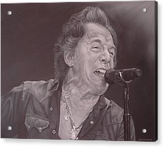 Bruce Springsteen V Acrylic Print by David Dunne