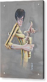 Acrylic Print featuring the painting Bruce  by Tu-Kwon Thomas