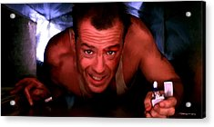 Bruce Willis In The Film Die Hard - John Mctiernan 1988 Acrylic Print