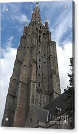 Acrylic Print featuring the photograph Bruges Church Of Our Lady by Deborah Smolinske