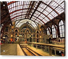 Bruges Train Station Acrylic Print