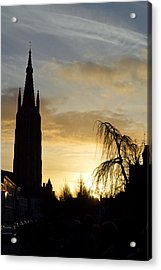 Brugges Sunset Acrylic Print by Stephen Richards