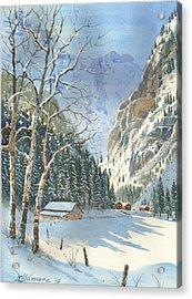 Brunni Valley In Canton Uri Acrylic Print by David Gilmore