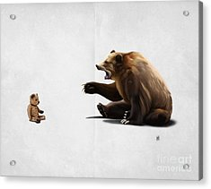 Acrylic Print featuring the drawing Brunt Wordless by Rob Snow