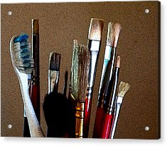 Brushes Acrylic Print