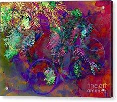 Brushing Circles  Acrylic Print by Meghan at FireBonnet Art