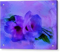 Brushing Flowers Acrylic Print