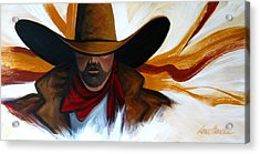 Acrylic Print featuring the painting Brushstroke Cowboy #4 by Lance Headlee