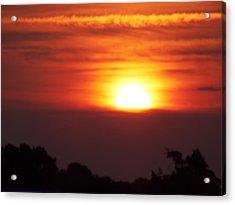 Brushstrokes At Dawn Acrylic Print by Condor