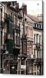 Brussels Architecture Acrylic Print by John Rizzuto