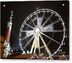 Acrylic Print featuring the photograph Brussels Christmas Market by Deborah Smolinske
