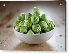 Brussels Sprouts In Bowl Acrylic Print by Aberration Films Ltd