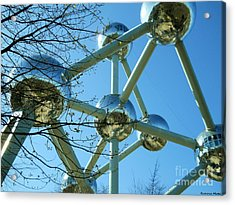 Acrylic Print featuring the photograph Brussels Urban Blue by Ramona Matei
