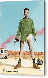 Bryan Cranston As Walter White  @ Tv Serie Breaking Bad Acrylic Print