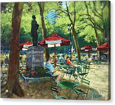 Bryant Park - The Reading Room Acrylic Print