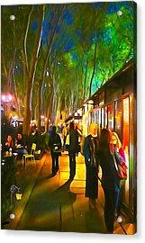Bryant Park Evening Acrylic Print by Richard Trahan