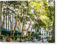 Bryant Park Midtown New York Usa Acrylic Print