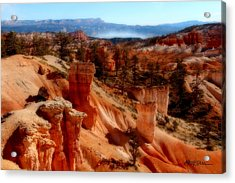 Bryce Canyon Cliff Acrylic Print by Marti Green