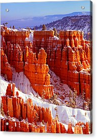 Bryce Canyon In Snow Acrylic Print
