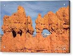 Acrylic Print featuring the photograph Bryce Canyon Peephole by Karen Lee Ensley