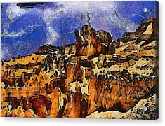 Bryce Canyon Thuderstorm Acrylic Print