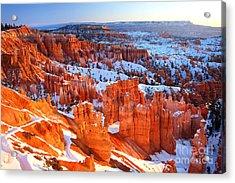 Bryce Canyon Winter Acrylic Print