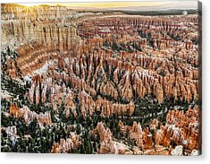 Bryce Point Sunset Acrylic Print by Harry H Hicklin