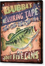 Bubba Measuring Tape Acrylic Print by JQ Licensing