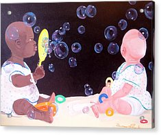 Bubble Babbies  Acrylic Print by Susan Roberts