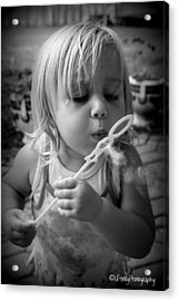 Acrylic Print featuring the photograph Bubble Fun by Laurie Perry