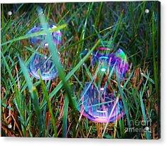 Bubble Illusions 1 Acrylic Print by Judy Via-Wolff
