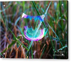 Bubble Illusions 4 Acrylic Print by Judy Via-Wolff