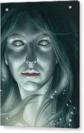 Bubble Mermaid Acrylic Print