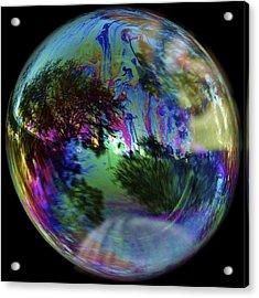Bubble Reflection Acrylic Print