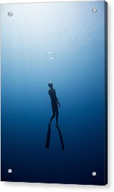 Bubble Ring Acrylic Print by One ocean One breath