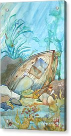 Bubble Ship Wreck Acrylic Print by Maya Simonson