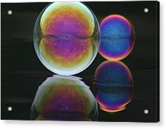 Bubble Spectacular Acrylic Print by Cathie Douglas