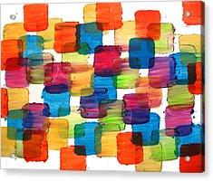 Bubble Wrap Blocks Art Abstract Paintings Splashyart.com Acrylic Print