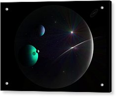 Bubbled Universe Acrylic Print by Ricky Haug