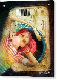 Bubblegum Pop Acrylic Print by Aimee Stewart