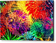 Acrylic Print featuring the photograph Bubbles by Geraldine DeBoer