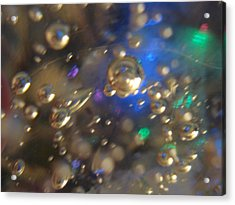Bubbles Glass With Light Acrylic Print