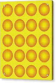 Bubbles Honeycomb Warhol  By Robert R Acrylic Print