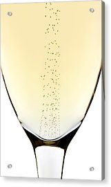 Bubbles In Champagne Acrylic Print by Johan Swanepoel