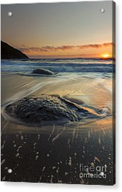 Bubbles On The Sand Acrylic Print by Mike  Dawson