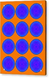 Bubbles Orange Blue Warhol  By Robert R Acrylic Print