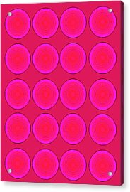 Bubbles Pink Peppemint Warhol  By Robert R Acrylic Print