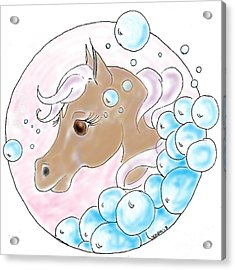 Bubbles Profile Acrylic Print by Vonda Lawson-Rosa
